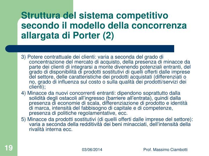 Struttura del sistema competitivo secondo il modello della concorrenza allargata di Porter (2)