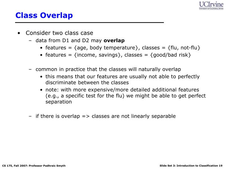 Class Overlap