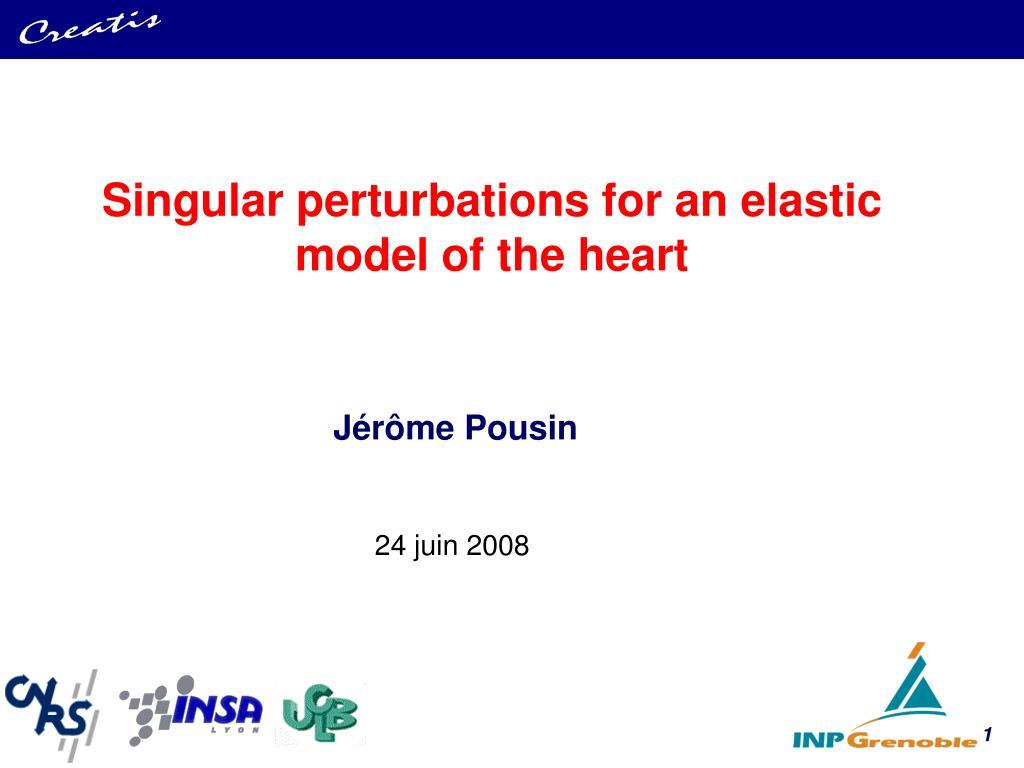 Singular perturbations for an elastic model of the heart