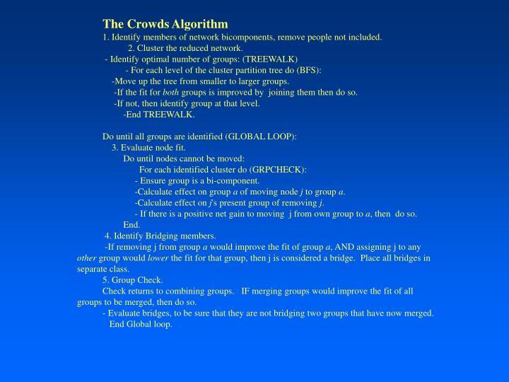The Crowds Algorithm