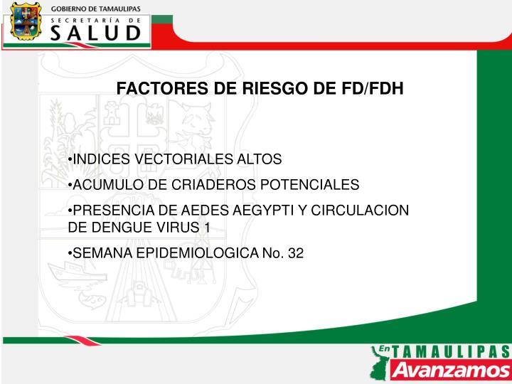 FACTORES DE RIESGO DE FD/FDH
