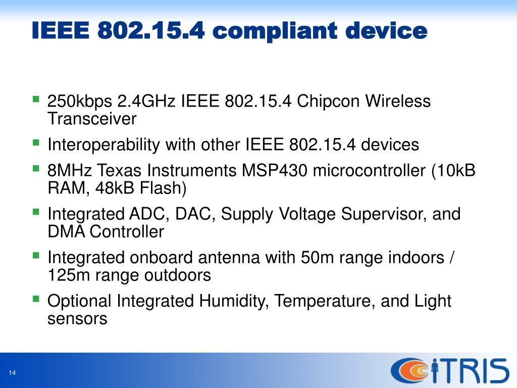 250kbps 2.4GHz IEEE 802.15.4 Chipcon Wireless Transceiver