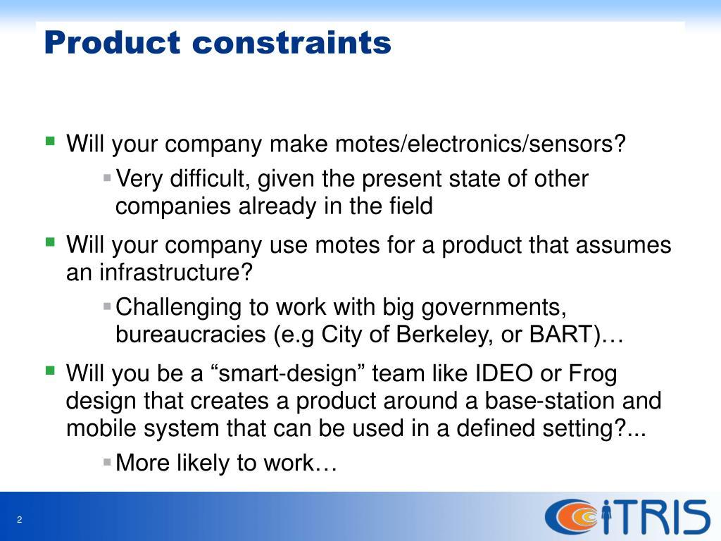 Will your company make motes/electronics/sensors?