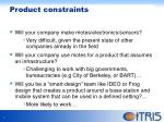 product constraints