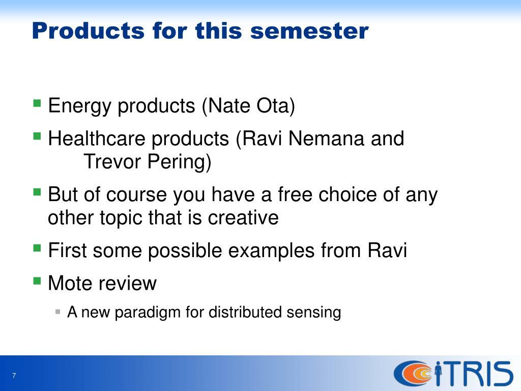 Energy products (Nate Ota)