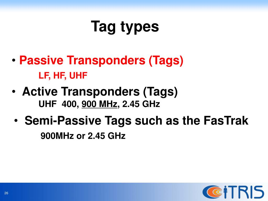 Tag types