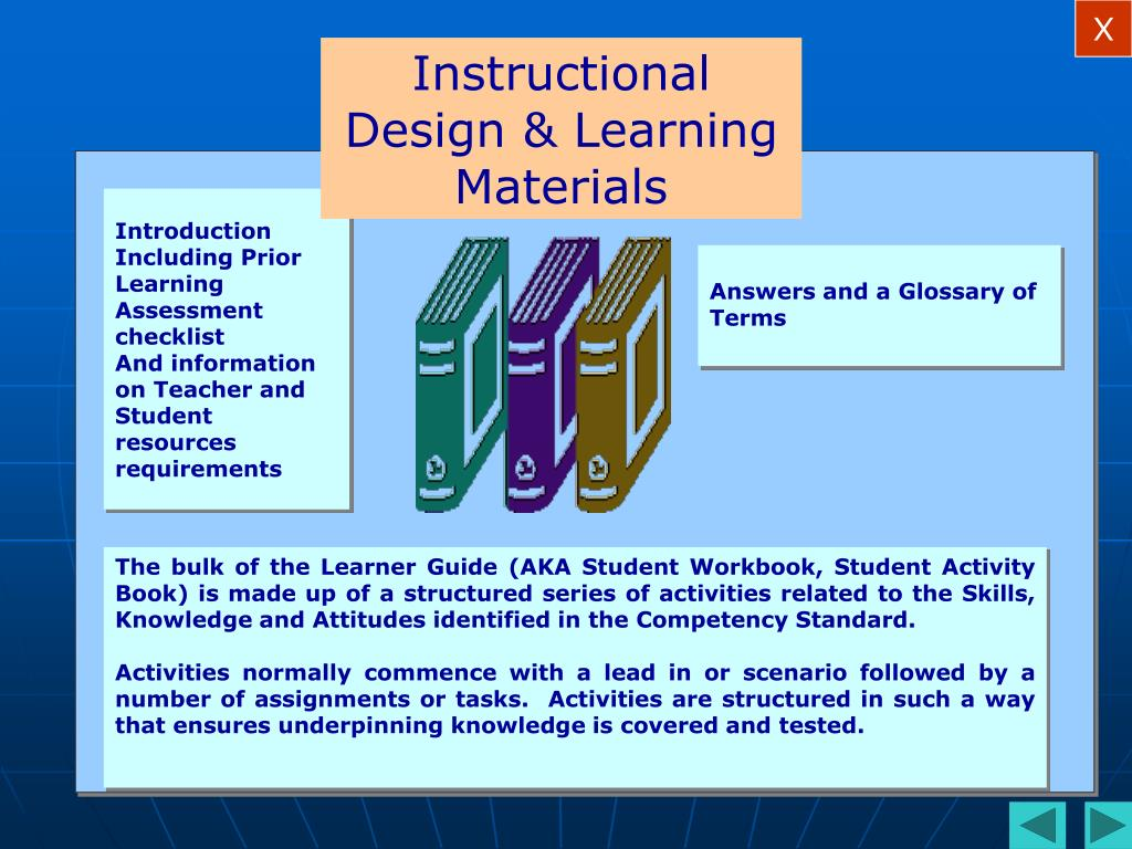 Instructional Design & Learning Materials