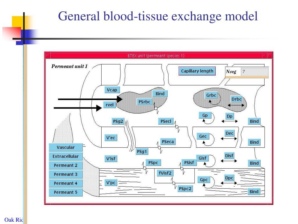 General blood-tissue exchange model