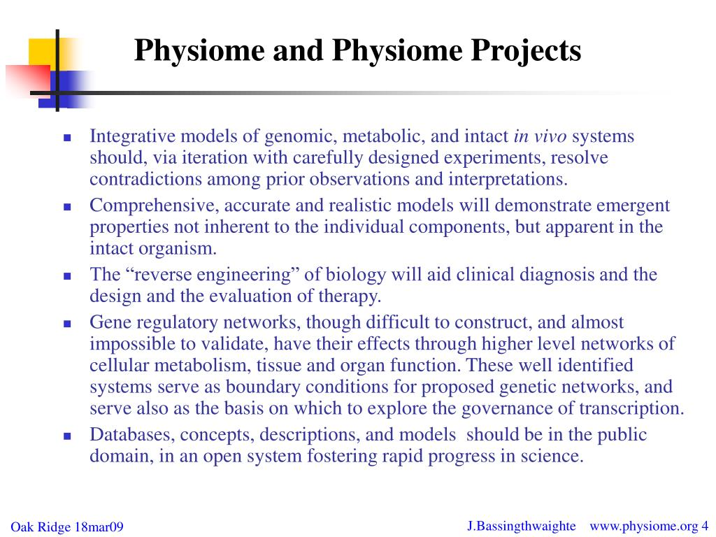 Physiome and Physiome Projects