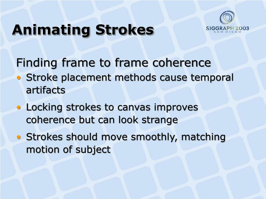 Animating Strokes