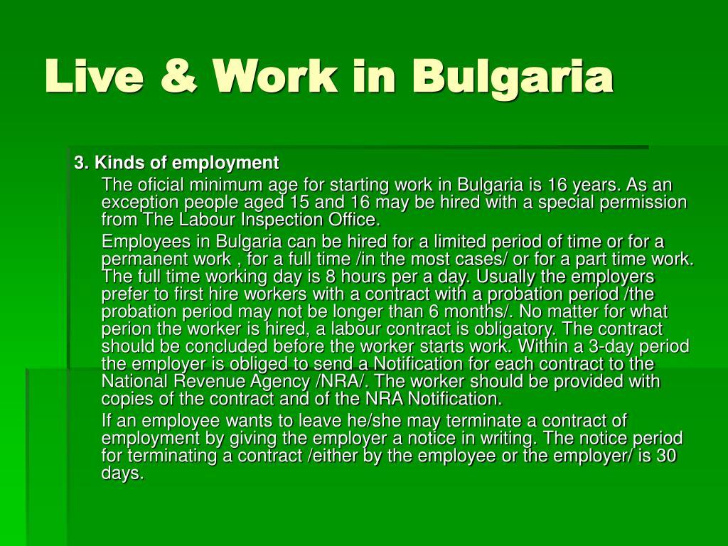 Live & Work in Bulgaria