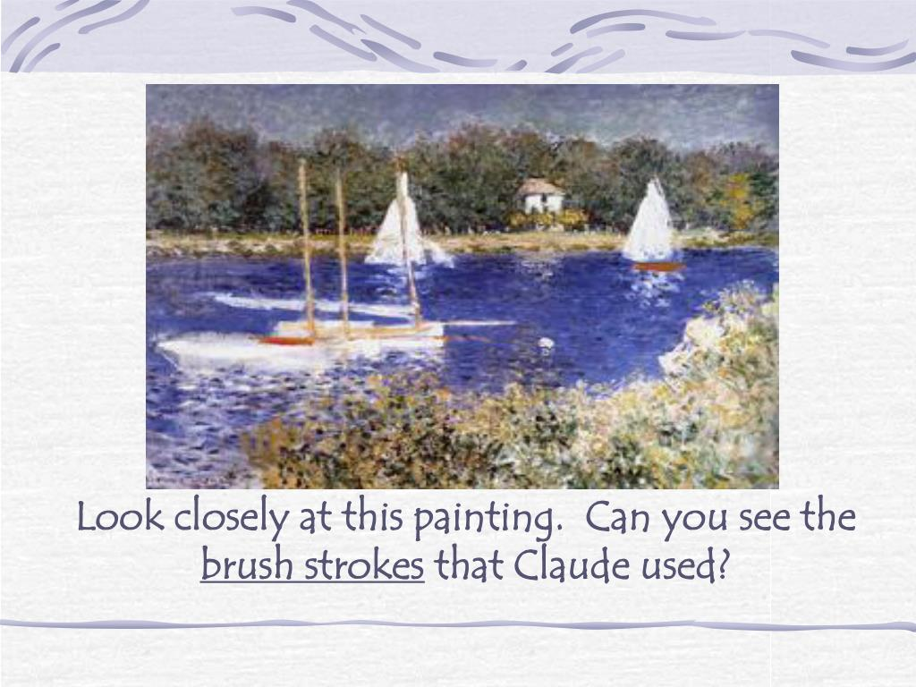 Look closely at this painting.  Can you see the