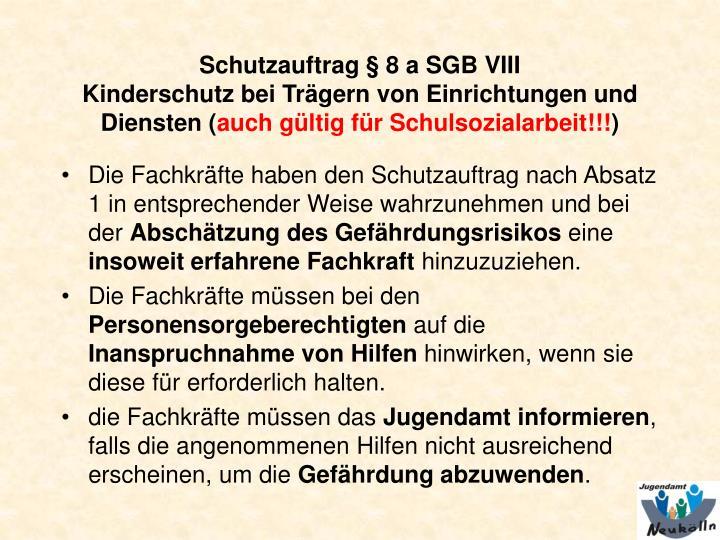 Schutzauftrag § 8 a SGB VIII