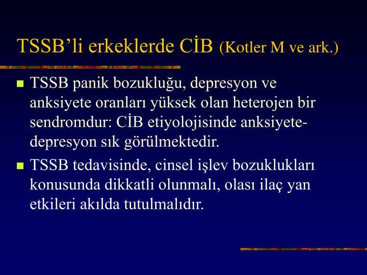 TSSB'li erkeklerde CİB