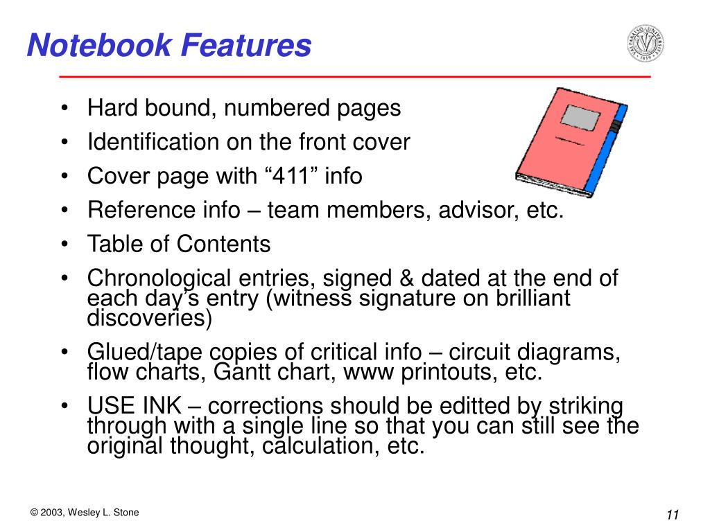 Notebook Features