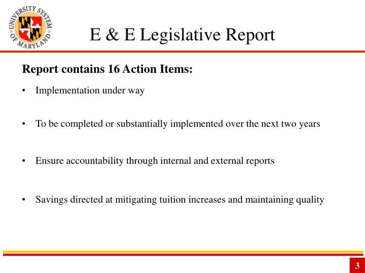 E & E Legislative Report