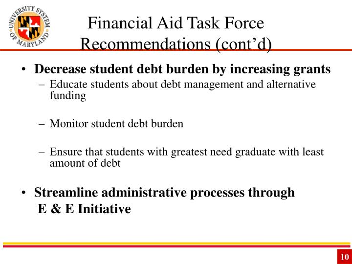 Financial Aid Task Force