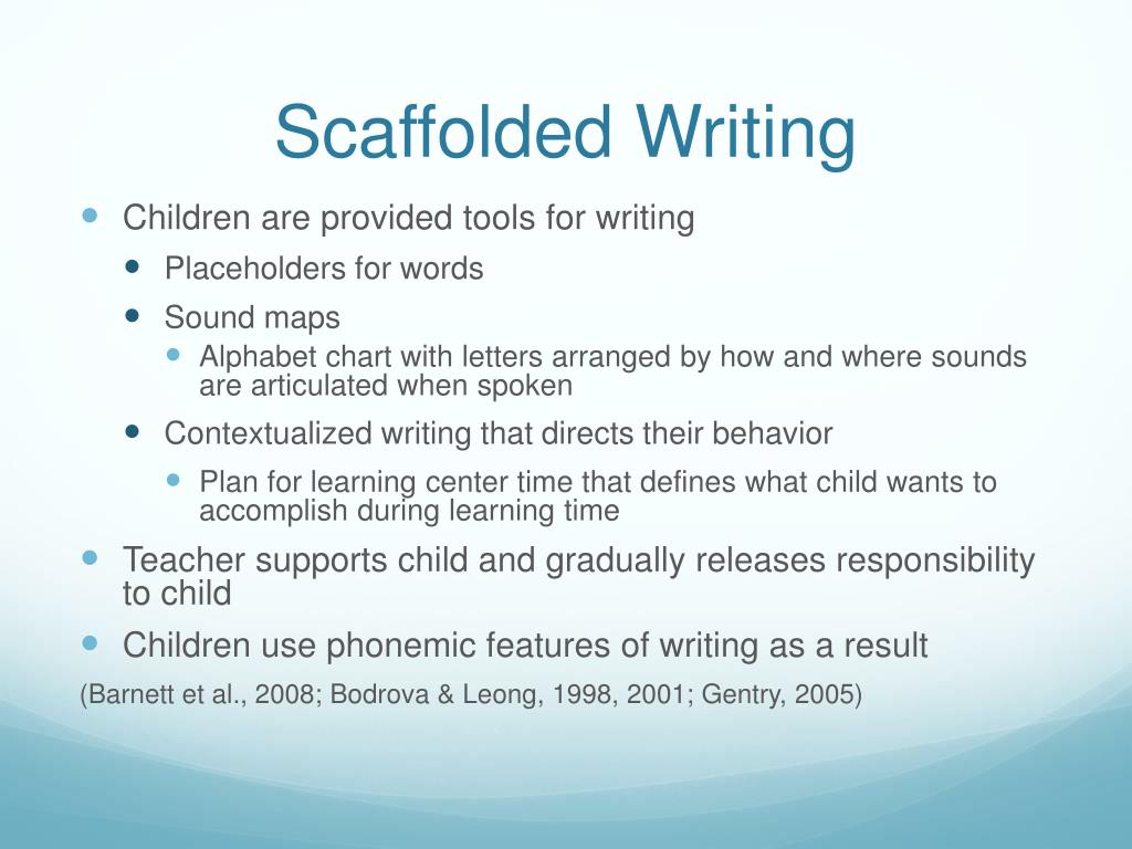 Scaffolded Writing