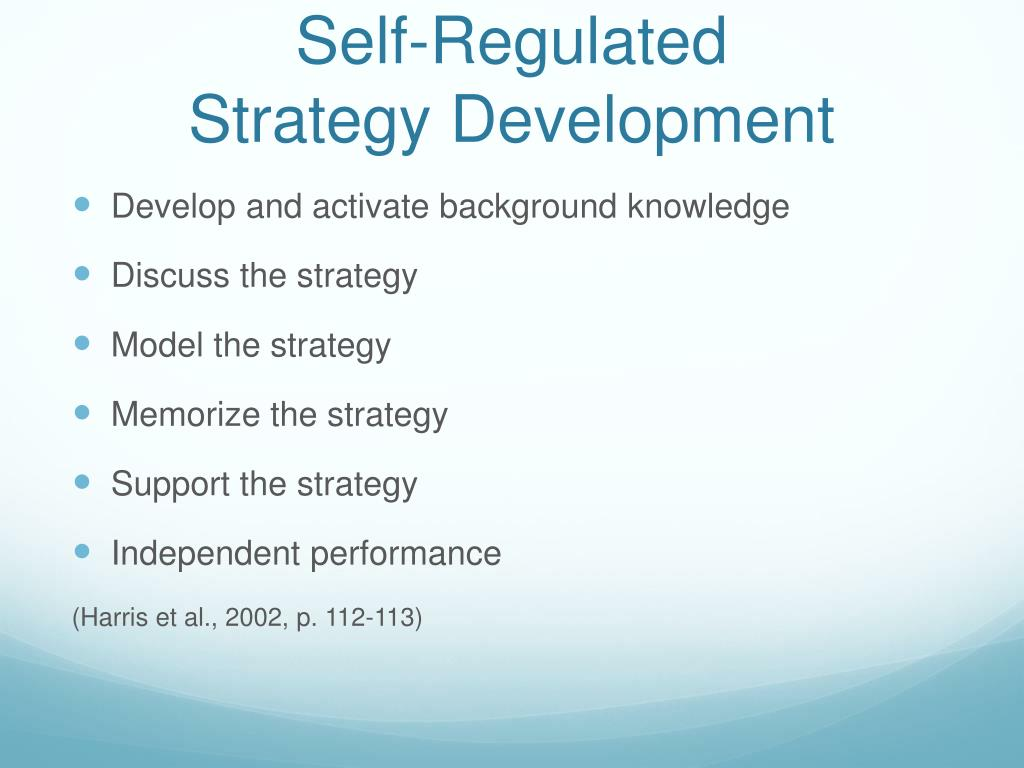 Self-Regulated