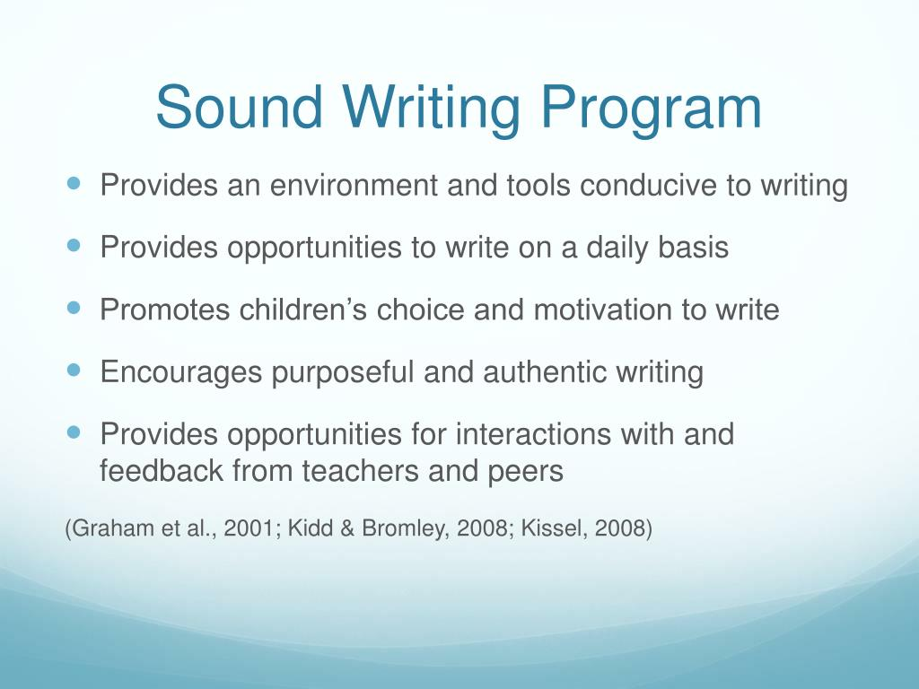 Sound Writing Program