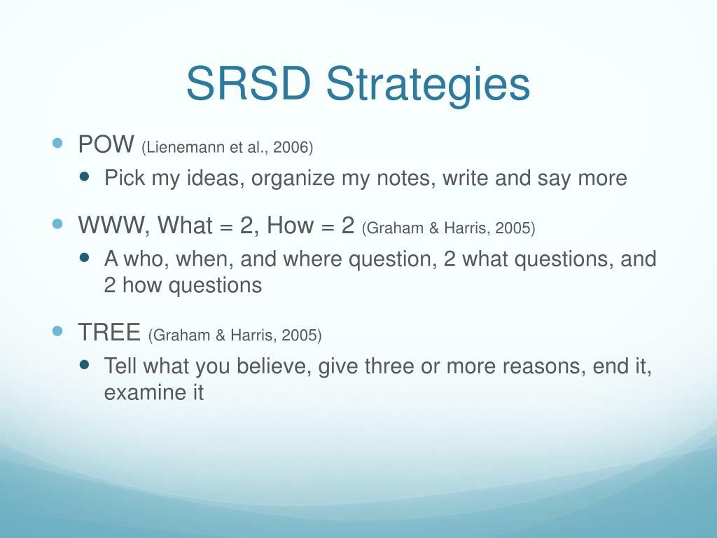 SRSD Strategies