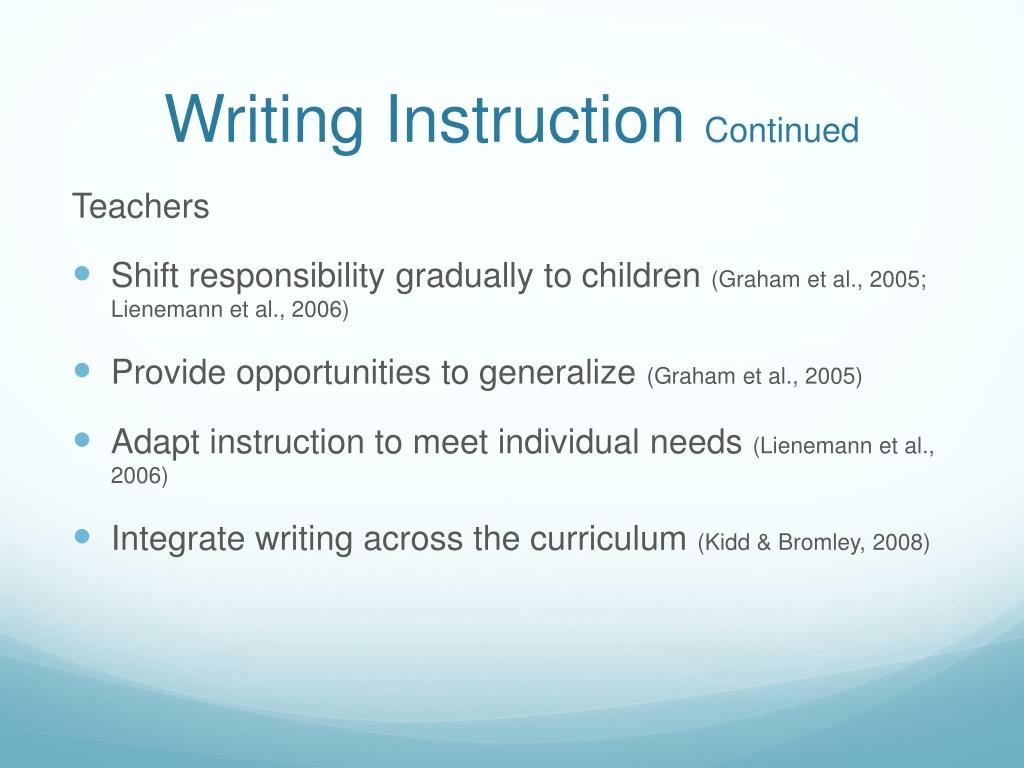 Writing Instruction