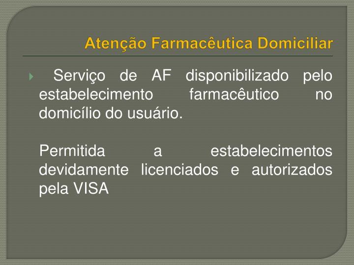 Atenção Farmacêutica Domiciliar