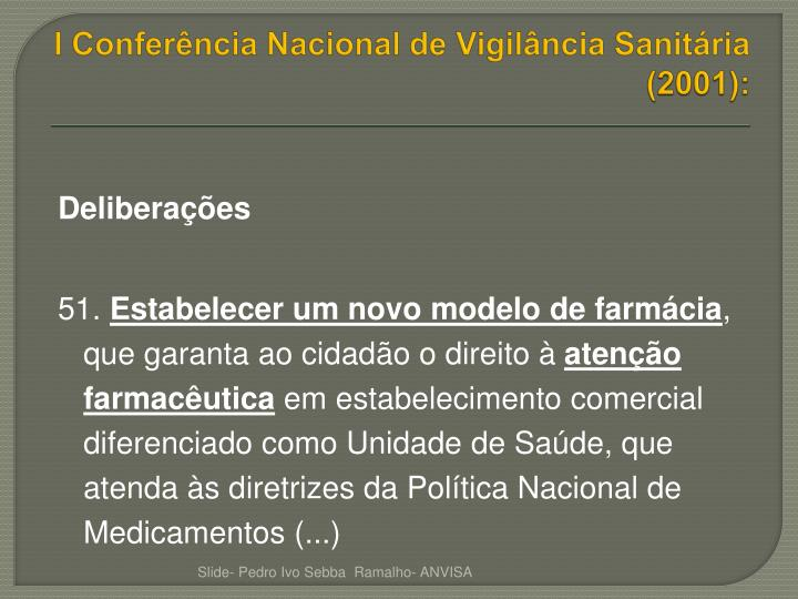 I Conferência Nacional de Vigilância Sanitária