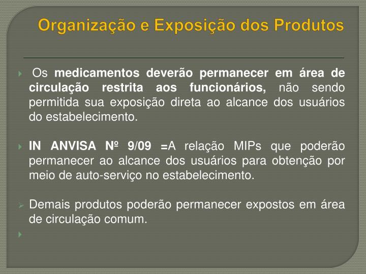 Organização e Exposição dos Produtos