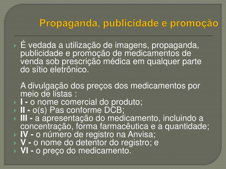 Propaganda, publicidade e promoção