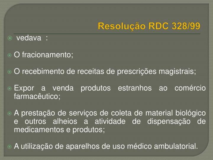 Resolução RDC 328/99