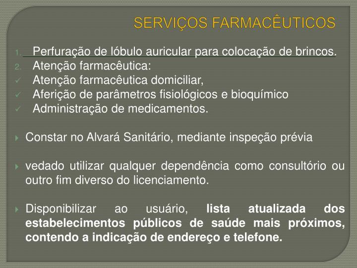 SERVIÇOS FARMACÊUTICOS