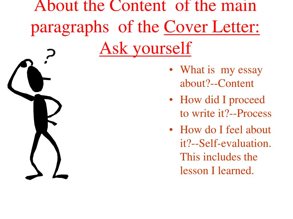About the Content  of the main paragraphs  of the