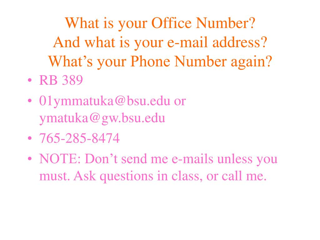 What is your Office Number?