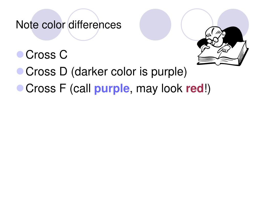 Note color differences
