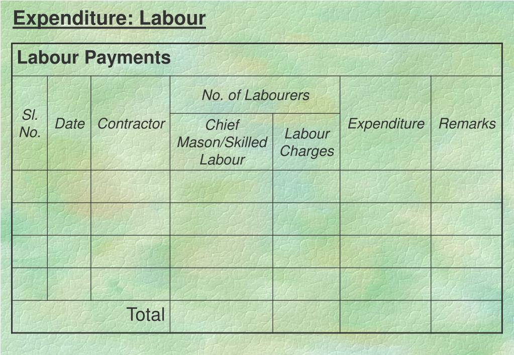 Expenditure: Labour