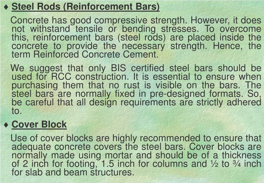 Steel Rods (Reinforcement Bars)