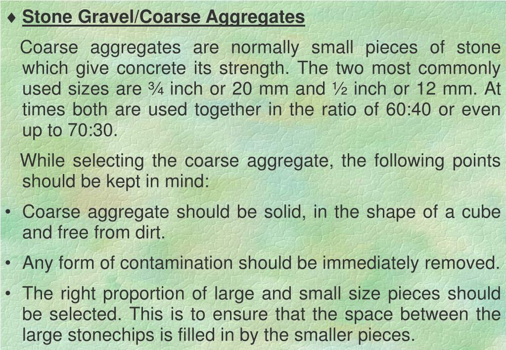 Stone Gravel/Coarse Aggregates