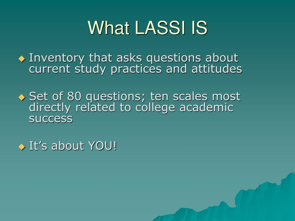 What LASSI IS