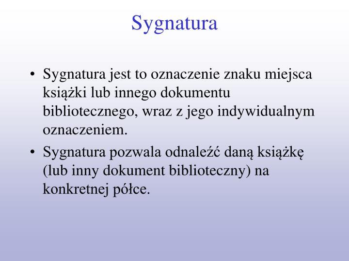 Sygnatura