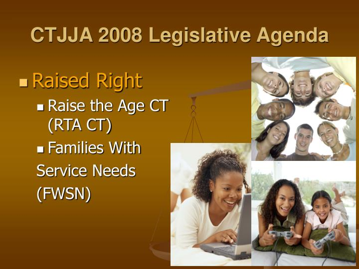 CTJJA 2008 Legislative Agenda