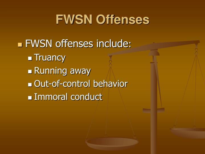 FWSN Offenses