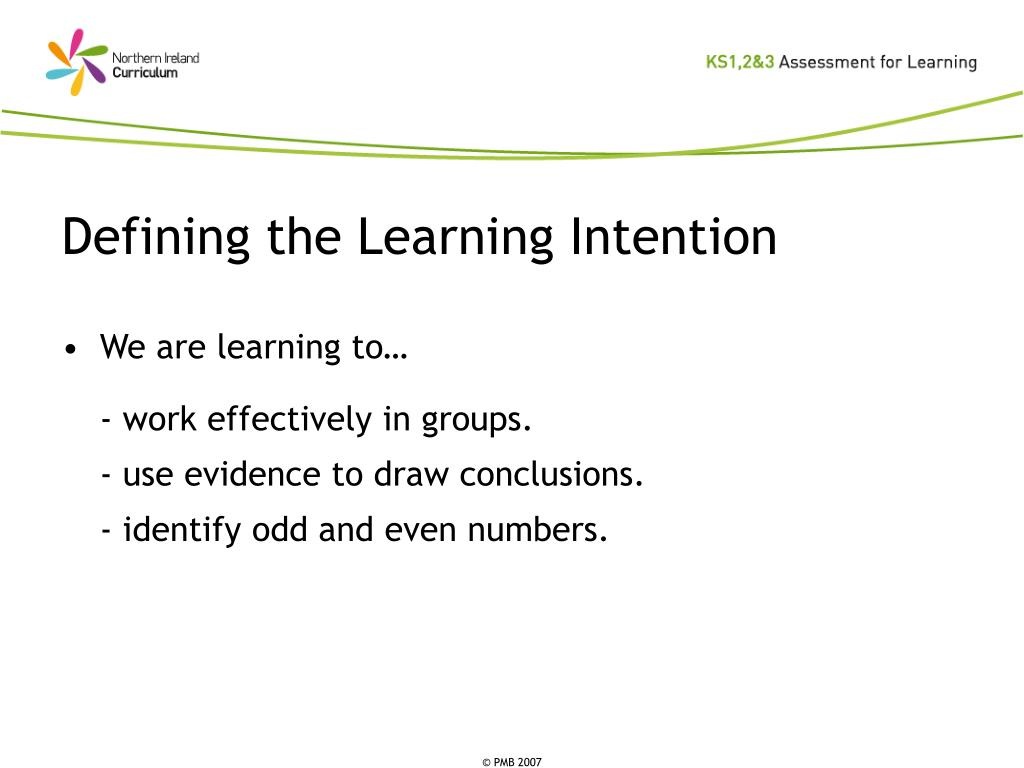 Defining the Learning Intention