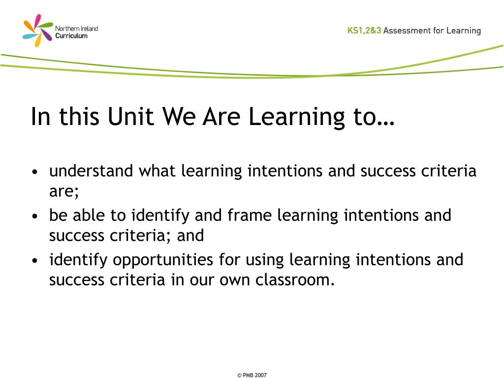In this Unit We Are Learning to…