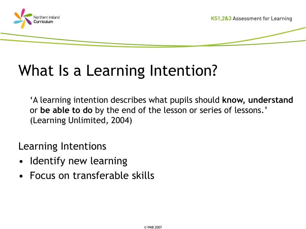 What Is a Learning Intention?
