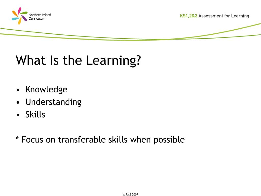 What Is the Learning?