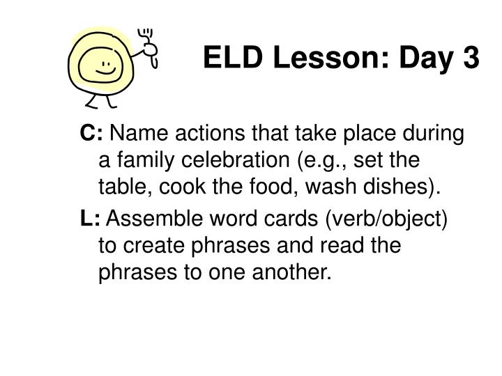 ELD Lesson: Day 3