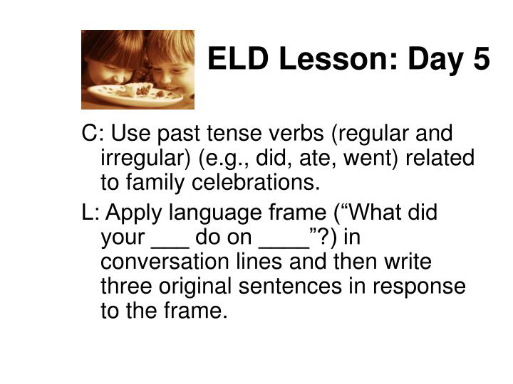 ELD Lesson: Day 5