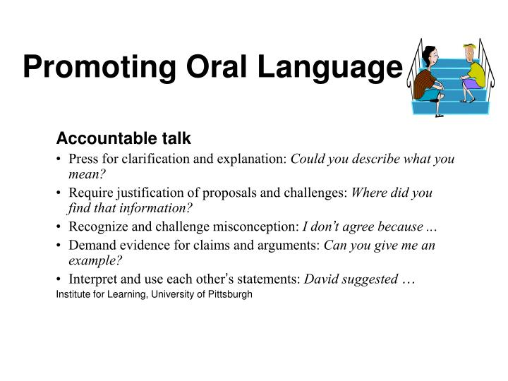 Promoting Oral Language