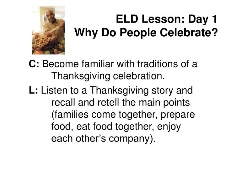 ELD Lesson: Day 1